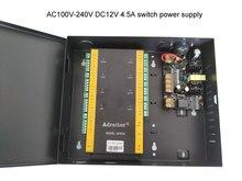 Marca 32 bit wiegand TCP IP de quatro Portas de Controle & caso de alimentação de 110 V/220 V apoio opção de software /web/smart phone/alarme de incêndio etc