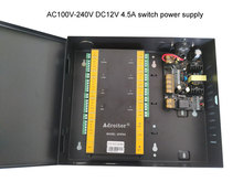 Wiegand מותג 32 סיביות TCP/IP ארבע דלת שליטה & כוח מקרה 110 V/220 V אפשרות תוכנת תמיכה /אינטרנט/טלפון חכם/אש מעורר וכו