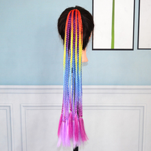 Beiyufei Hair Color Gradient Dirty Braided Ponytail Colored Little Braid Ponytail Hair Ring Little Braided Colored Ponytail cheap NoEnName_Null High Temperature Fiber CN(Origin) Marley Braids 1strands pack Ombre