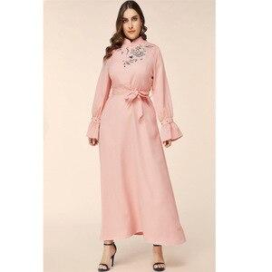 Muslim Women Stripe Dress Long Sleeve Open Abaya Robe dubai Maxi Party islamic clothing Kimono Cardigan New Adult Casual Arab