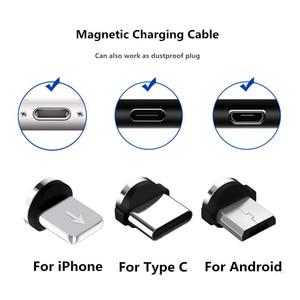 Cabo magnético adaptador usb tipo-c, plugue para iphone 8 pinos de carregamento rápido android cabo usb para carregador, plugue para carregador