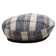 BINGYUNHAOXUAN 2019 High Quality Cotton Plaid Beret for Women Girls Winter Hats British Style Elegant Wholesale