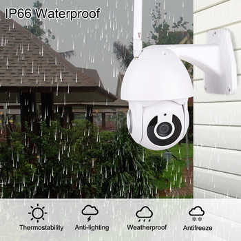 HD 1080P PTZ Wifi Camera Outdoor Auto Tracking Cloud CCTV Home Security IP Camera 2MP Zoom Audio Speed Dome Camera