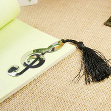 Hollow Musical Notes Bookmark With Tassels Pendant Gifts Ducument Book Marker Label Stationery Marcador De Livros #15(China)