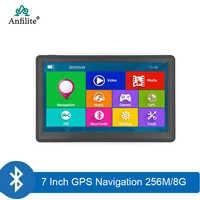 Anfilite 7 pulgadas 800*480 camión DDR3 256M 8GB windows CE 6,0 GPS de navegación 800M FM bluetooth avin del vehículo del coche MTK GPS Navigator