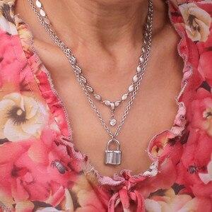 Цепь из нержавеющей стали, 3 мм, Трендовое ожерелье с единорогами в виде головы ангела, тигра, женские Украшения унисекс, новинка, панк, ожерелье с пламенем для мужчин