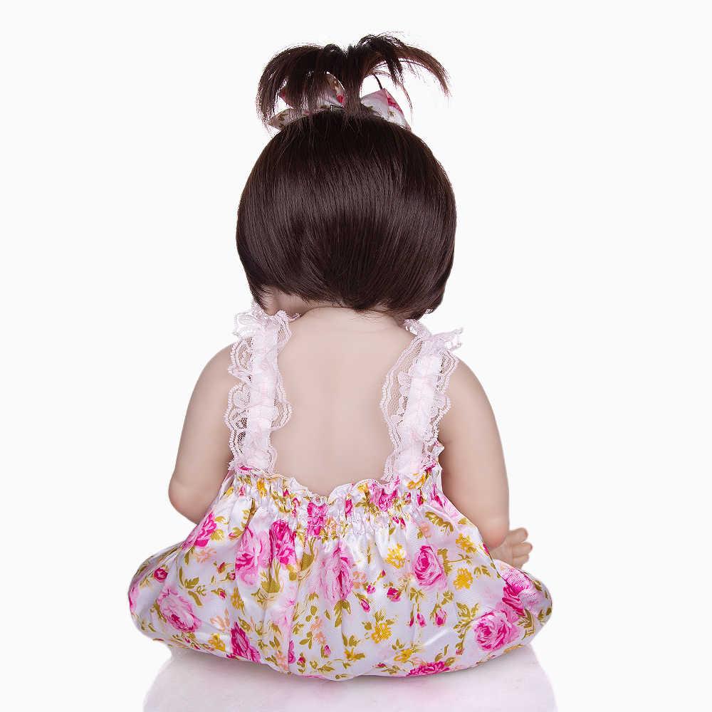 KEIUMI горячая Распродажа, детские куклы Reborn, реалистичные куклы принцессы для девочек, 23 дюйма, детские куклы Reborns, моющиеся Игрушки для малышей, подарки для детей