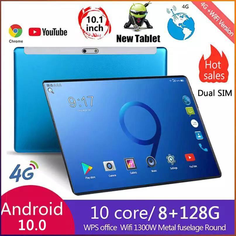 Tablette pc Android 128 de 10 pouces, 10 cœurs, 4g, 8 go de RAM, 10.0 go de ROM, 1280x800 IPS, double caméra, vente en gros