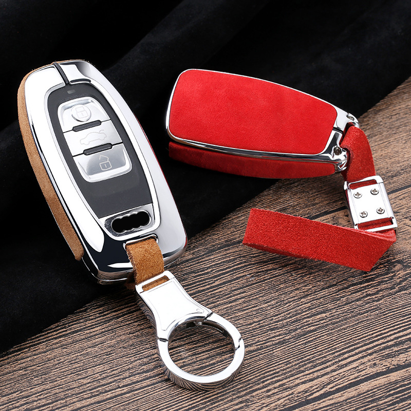 2019 New Key Case Cover For Audi A6 A8 Q7 A4 B9 A4L A5 Q3 TT 2016 2017 2018 Remote Key Shell Cover Car Styling image
