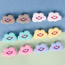 Tyry. hu 50pc forma de nuvem silicone dentição contas bpa livre para diy infantil enfermeira presente chupeta clipe de corrente roedores borracha adidos