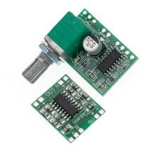 1 pces pam8403 módulo super placa de amplificador digital 2*3 w classe d placa amplificador digital interruptor eficiente potenciômetro