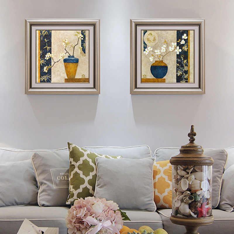 الإطار خمر اللوحة دهان داي بواسطة أرقام أطقم الاكريليك الطلاء على قماش هاندبينتيد النفط اللوحة ل الفني جدار 70*100 سنتيمتر