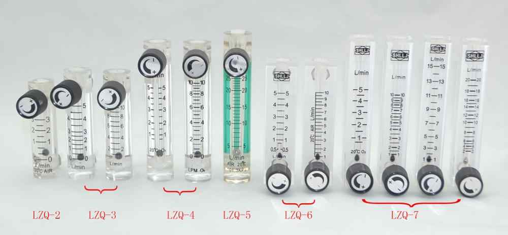 Adjustable 0.1-1L to 1-15LPM Gas Flowmeter for Oxygen Air Conectrator