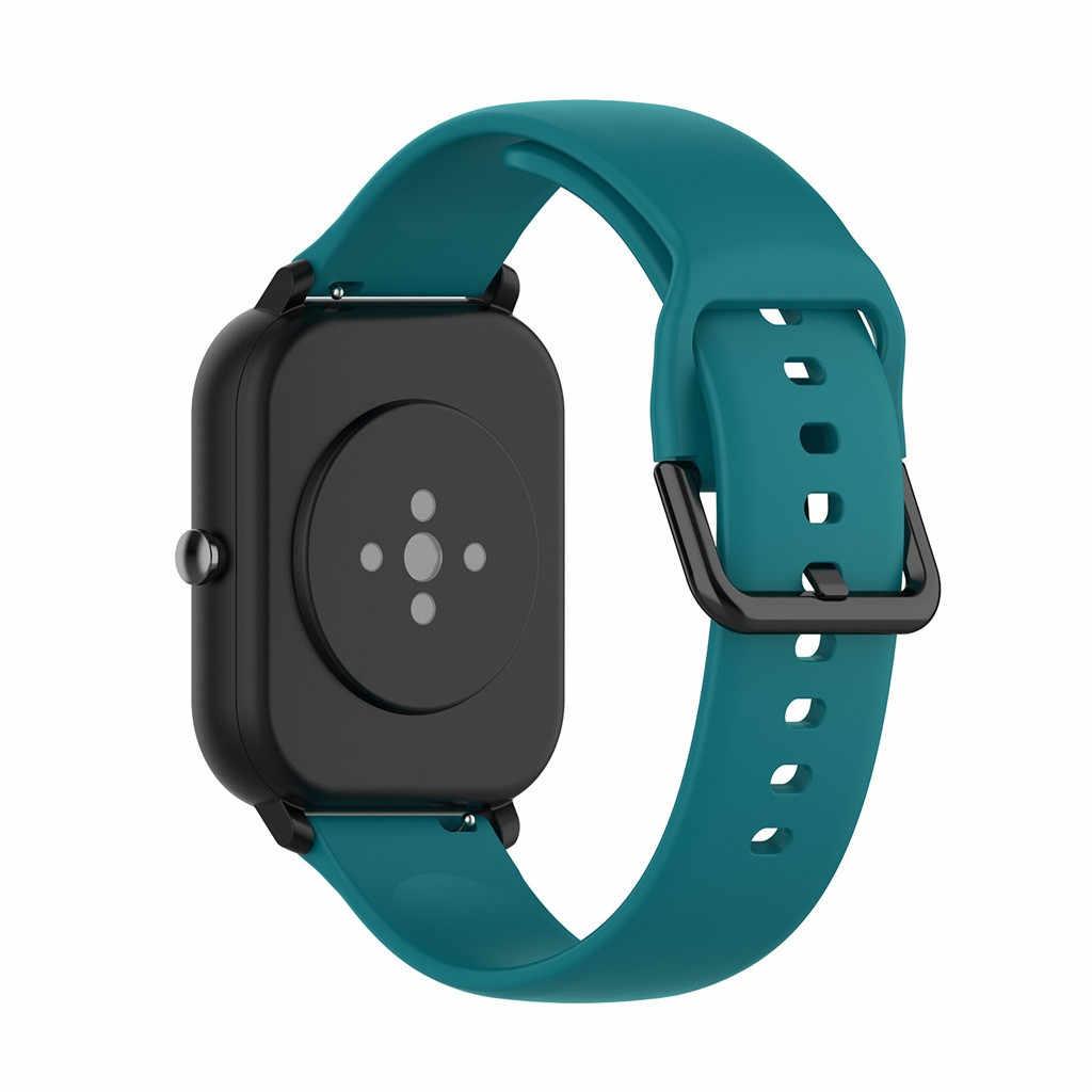 الرياضة لينة سيليكون استبدال حزام (استيك) ساعة أحزمة معصم ل Huami Amazfit GTS 9.18
