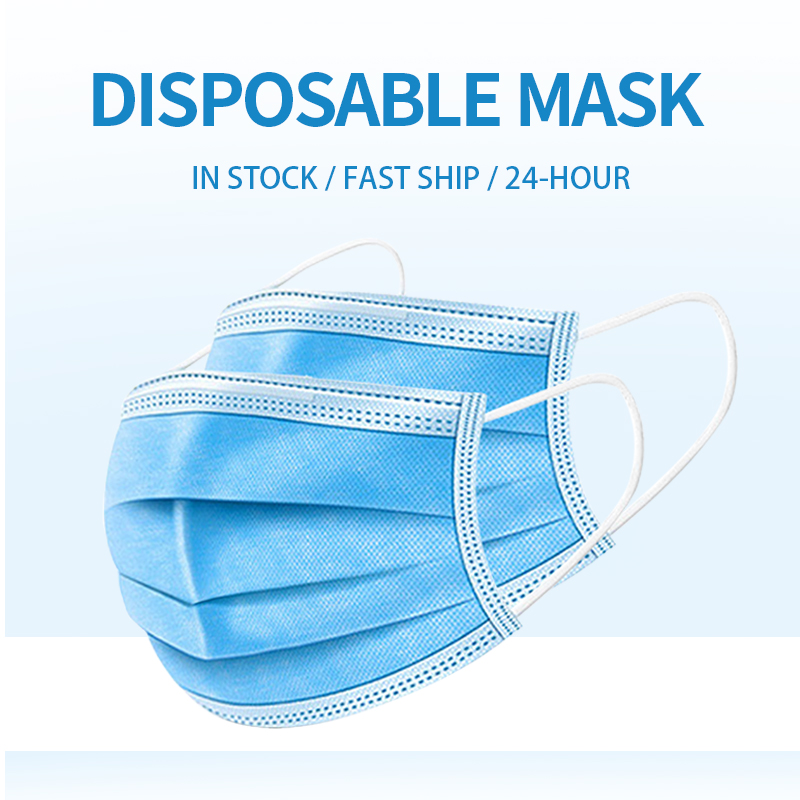 3 Layer Mask Protection Masks Disposable Face Masks Elastic Ear Loop Dust Filter Safety Mask