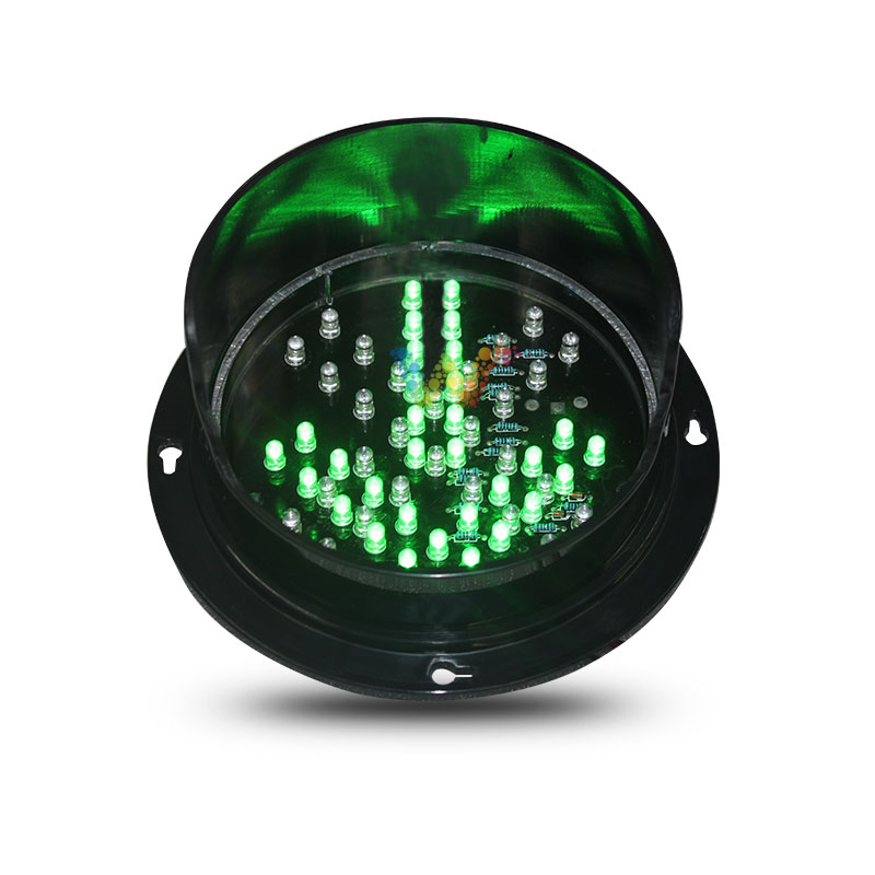 Factory direct price customized pattern 125mm red cross green arrow LED traffic light