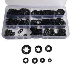 280 sztuk zębów Starlock Push na podkładki zabezpieczające prędkość klipy łączniki asortyment szybkie prędkości podkładki zabezpieczające|Podkładki|Majsterkowanie -