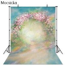 Mocsicka Vinyl Fotografia tło Retro różowa róża drzwi kwiatowe ciemny olej drukowane Fotografia tło do zdjęć Studio G 437