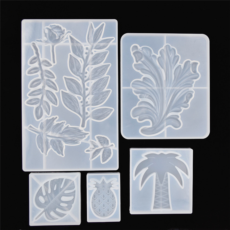 SNASAN Leaf Rose Flower Pineapple Silicone Mold For Jewelry Making Tool Resin UV Epoxy Resin Silicone Mould  Decorative Crafts