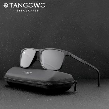 Okulary ramka mężczyźni okulary na receptę TR90 okulary do niebieskiego światła okulary dla osób z krótkowzrocznością kwadratowe okulary damskie okulary komputerowe 2020 tanie i dobre opinie TANGOWO Plastikowe tytanu Stałe 89017 FRAMES Okulary akcesoria Optical Glasses Rectangle Glasses Frames Spectacle Glasses
