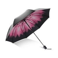 Guarda chuva Por Atacado Personalizável Sun resistente All Weather Parasol Umbrella Sun resistente Black Cherry Guarda chuva Criativo Ultra  li|  -