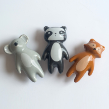 6Pcs Ceramic Koala Knobs Cartoon Animal Cabinet Pulls Decorative Cupboard Drawer Door Pull Handles