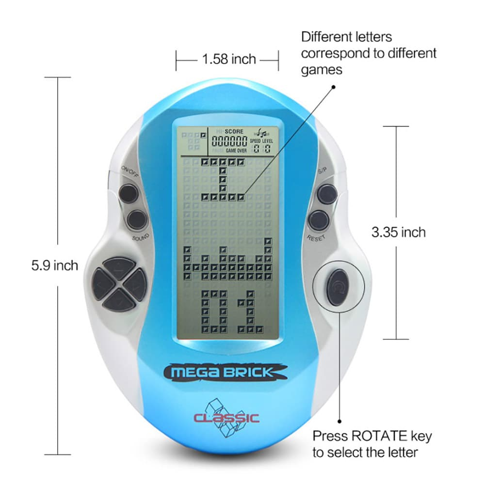 Retro Mini Handheld Tetris Brick Game Console 3 Inch Classic 8 Bit Lcd Portable Gb Game Boy Hand Play for Sale Kids Child Gaming