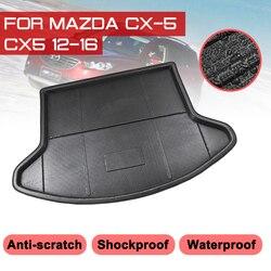 Tylna mata bagażnika samochodu dla Mazda CX 5 CX5 2012 2013 2014 2015 2016 wodoodporna podłogowa maty dywan anty błoto taca mata do wyłożenia podłogi bagażnika na