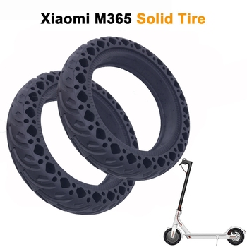 2Pcs Rubber Solid Tire for Xiaomi Mijia M365/Ninebot 8.5 Inch Electric Scooter Shock Absorber Damping Tyre (Black)