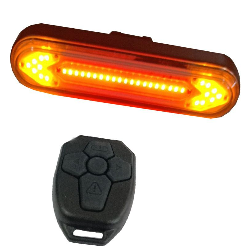 New Bicycle Rear Light LED Wireless Remote Control USB Rechargeable Mountain Bike Tail Turn Signal Warning Light Lighting Tool