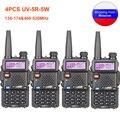 4 шт. Baofeng UV-5R рация 136-174 и 400-520 МГц UV5R 5 Вт FM трансивер УФ двухстороннее радио
