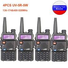 4 قطعة Baofeng UV 5R لاسلكي تخاطب 136 174 و 400 520MHz UV5R 5 واط FM جهاز الإرسال والاستقبال الأشعة فوق البنفسجية اتجاهين