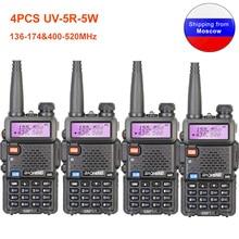 4PCS Baofeng UV 5R Walkie Talkie 136 174&400 520MHz UV5R 5W FM Transceiver UV Two Way Radio