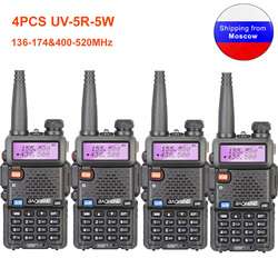 4PCS Baofeng UV-5R Walkie Talkie 136-174 & 400-520MHz UV5R 5W FM Transceiver UV two Way Radio