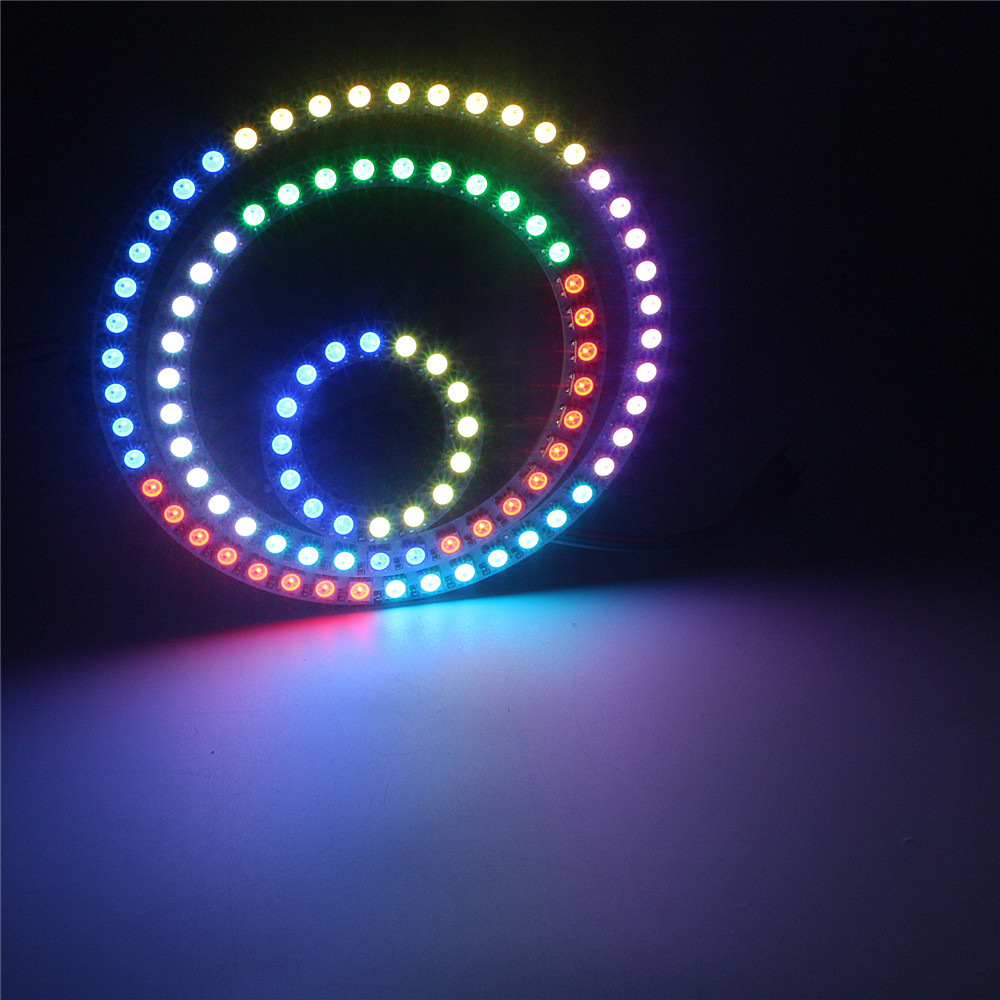 Addressable WS2812B Pixel Ring LED Module 8/16/24/35/45 Bits LEDs 5050 RGB Dream Color WS2812 ic Built-in DC5V Led Lamp Light image