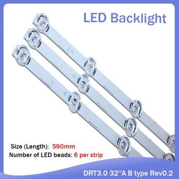 New 3 PCS*6LED 590mm LED backlight strip bar compatible for LG 32LB561V UOT A B 32 INCH DRT 3.0 32 A B 6916l-2223A 6916l-2224A new 6 pcs 3 7led 3 6led led backlight bar for konka led55m1600b 35019621 35019619 570mm 590mm