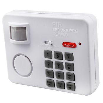 Wireless Motion Sensor Alarm with Security Keypad PIR Home Garage Shed Caravan white van garage shed door security padlock