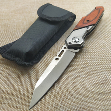 New Hunting 5CR15MOV Blade Quick Open Knives 58HRC Outdoor Portable Pocket Campi