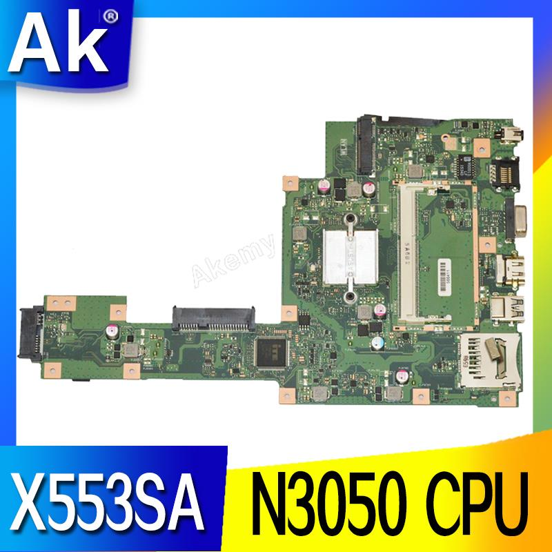 AK X553SA Laptop Motherboard For ASUS X553SA X553S X553 Test Original Mainboard N3050 CPU