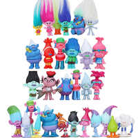 6 unids/set Hasbro Trolls juguetes figura de acción Poppy rama Biggie tipo diamante poco nube tipo criatura figura juguetes de los niños