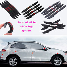 Car Styling 4PCS Door Side Edge Protective Sticker Rearview Mirror  Strip Decal For Honda Accord Civic CRV Fit HR-V Vezel City