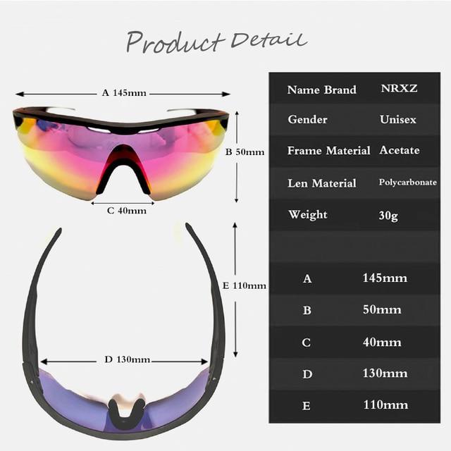 Nrc marca superior ciclismo óculos de bicicleta dos homens uv400 ciclismo óculos de sol gafas tr90 mtb estrada esportes óculos de sol 6