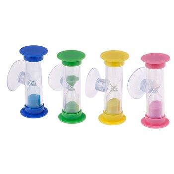 Cepillo de dientes giratorio arena temporizador 2 minutos ducha temporizador niños mini reloj de arena de vidrio