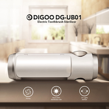 Digoo USB Toothbrush Sterilizer Box UV Light Ultraviolet Antibacterial Toothbrush Cleaner Rechargeable Toothbrush Holder
