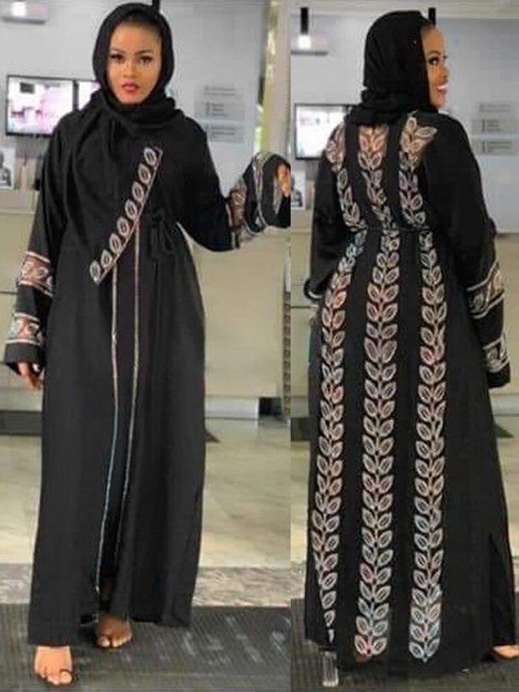 MD Abayas Clothing Hijab Dress Turkey Kimono Islamic Stones Dubai Caftan Marocain Muslim
