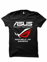 ASUS ROG AMD INTEL NVIDIA T-SHIRT Casual Unisex T-shirt S - XXL(China)