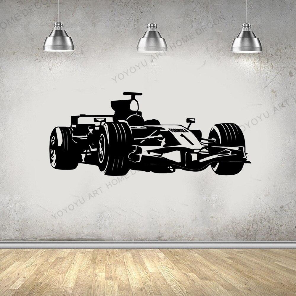 Wall Vinyl Decal Racer Racing Formula Speeding Car Kart Superkart Decor 1331dz