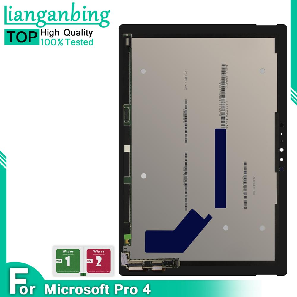 Pantalla LCD Digitalizador de pantalla táctil montaje de sensores reemplazo de Panel para Microsoft Surface Pro 4 1724 12,3 pulgadas Pro4