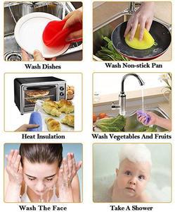 Image 3 - 5PCS/Set Magnic Eraser Silicone Dish Sponge Scrubber Pot Washing Brush Household Cleaning Sponges Brushes 5 Pack