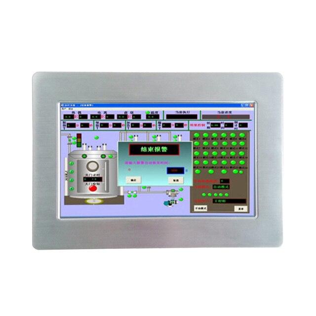 Konkurencyjna cena bez wentylatora 10.1 cal IP65 wodoodporna wszystko w jednym ekran dotykowy panel przemysłowy pc